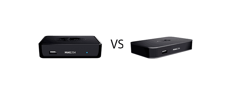 MAG 254 vs MAG 256 iptv box