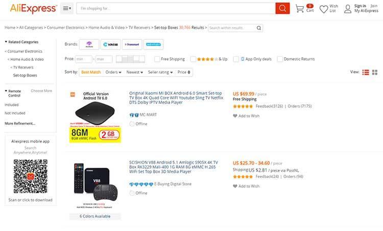 Buy cheap android kodi tv box from aliexpress