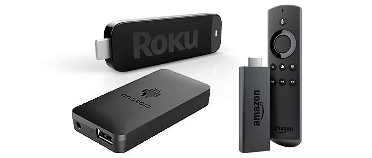 Android streaming sticks featuring Roku Stick and Amazon Fire Tv Stick