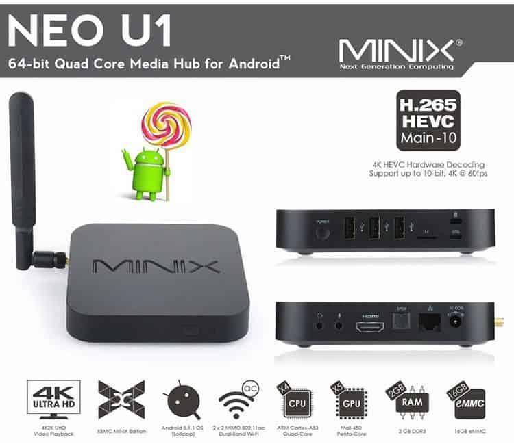 Minix Neo U1 Factsheet