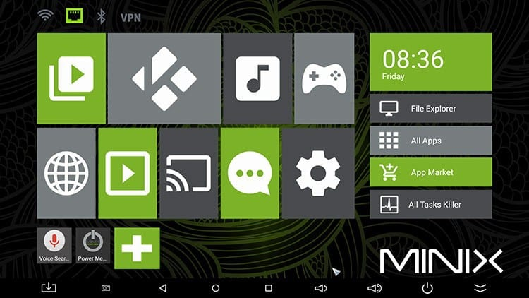 Minix Neo U1 Launcher GUI
