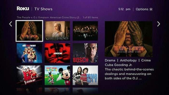 roku user interface