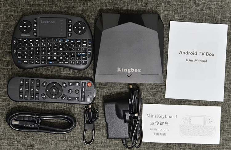 Kingbox K3 package contents