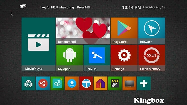 Kingbox K3 user interface