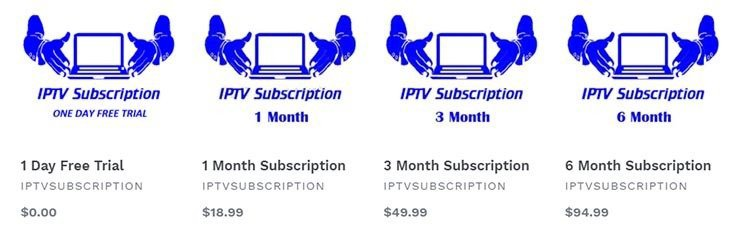 iptv subscription price