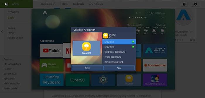 atv android tv box launcher