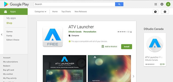 atv tv box launcher