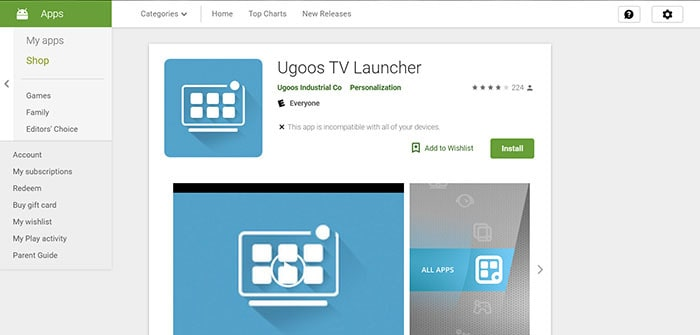 ugoss android tv box launcher review