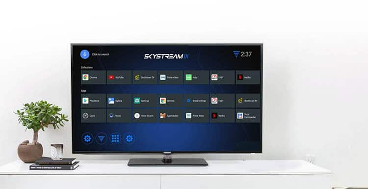 skystream three user interface