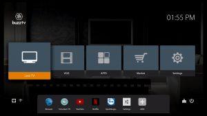 BuzzTV XR4500 Interface