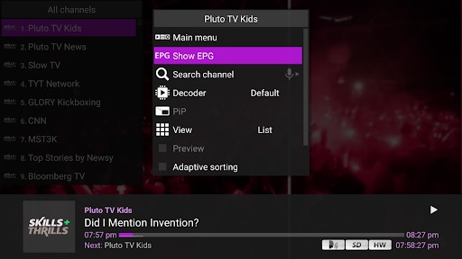 How to view EPG on Perfect Player
